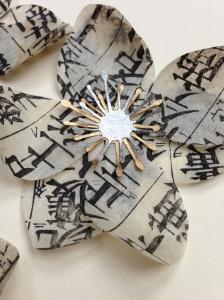 Japanese Anemones paper art
